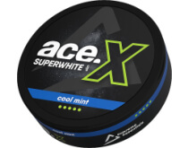 SNUS Nikotiinipadjad <br> ACE X Superwhite <br> Cool Mint