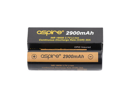 Aspire 2900mAh 20A (30A) 18650 Akumulators