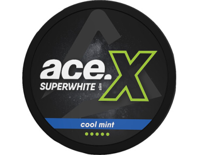 SNUS Nikotiinipadjad  ACE X Superwhite  Cool Mint