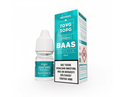 Base liquid with nicotine 20mg/ml 70VG/30PG booster, 10ml