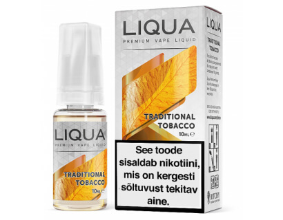 "E-vedelik <br> TRADITIONAL TOBACCO <br> ""Liqua Elements"""